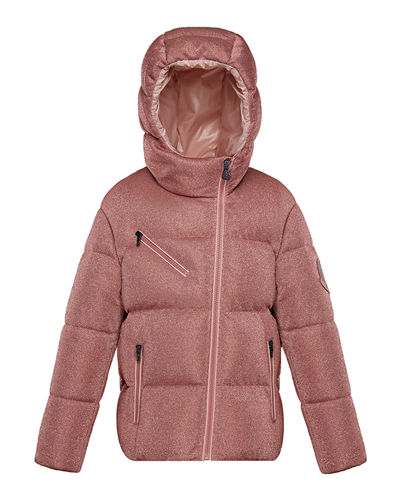 Taurua Metallic Asymmetric-Zip Quilted Jacket, Size 8-14 Quick Look. Moncler