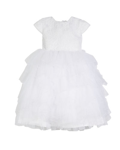 Lace & Tulle Gown w/ Embellished 3D Flowers, Size 4-14