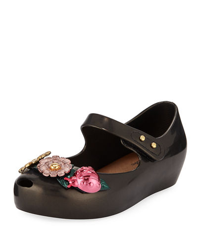 ad2df7424a Ultragirl X Flower Mary Jane Flat Toddler Quick Look. BLACK  RED. Mini  Melissa