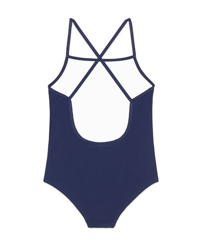 One-Piece Logo Swimsuit, Size 4-10