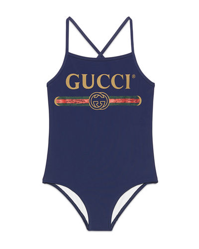 6e13ca5566fbd One-Piece Logo Swimsuit Size 4-10
