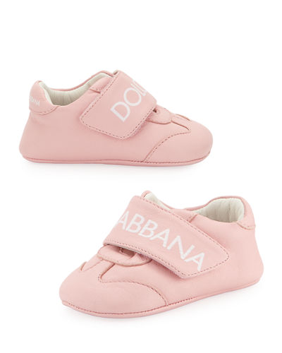 Classic Logo Leather Sneakers, Baby/Toddler