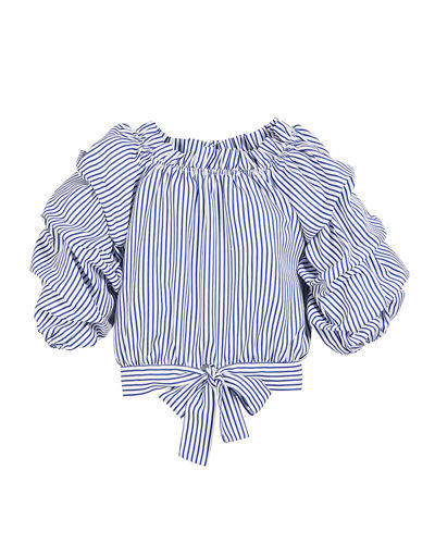 Joyce Striped Gathered Top  Size 7-14