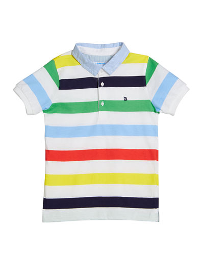 Multi-Stripe Polo Shirt, Size 12-36 Months