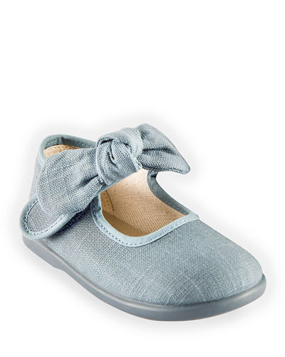 Linen Bow Mary Jane, Toddler