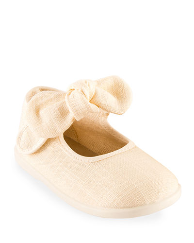 Linen Bow Mary Jane  Toddler