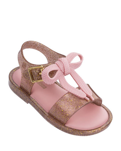 Mar Shoelace Bow T-Strap Sandal, Baby/Toddler/Kids