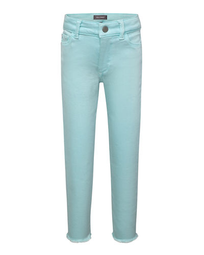 Girls' Chloe Skinny Raw-Hem Acid Wash Jeans, Size 2-6