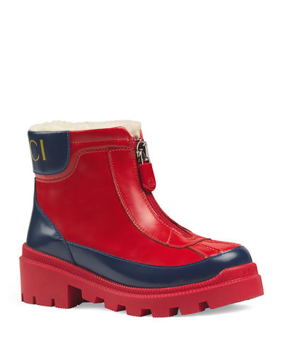 Leather Zip Front Boots  Toddler/Kids