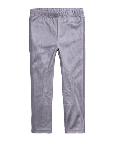Girl's Two-Tone Stretchy Faux Suede Pants, Size 7-14