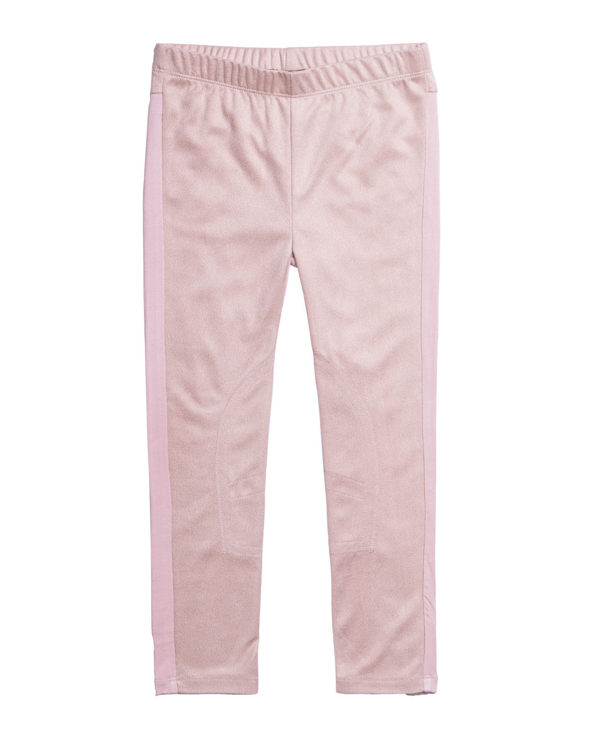 Imoga GIRL'S TWO-TONE STRETCHY FAUX SUEDE PANTS