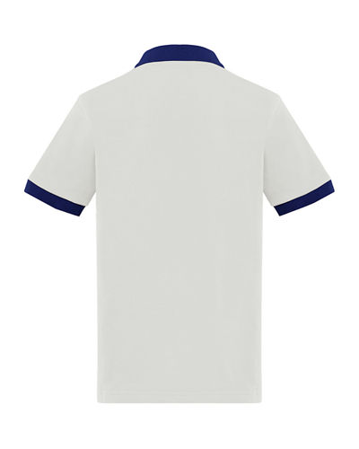 Contrast-Trim Polo Shirt, Size 4-6