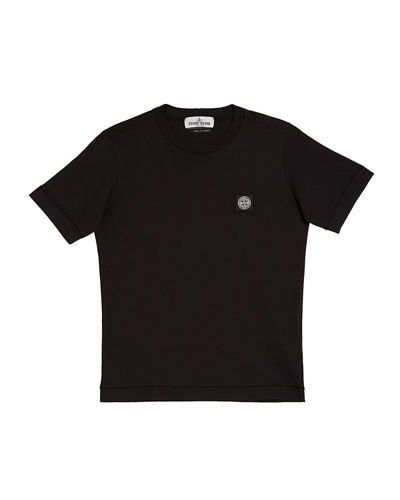 Boy's Short-Sleeve Logo Patch Tee, Size 8-10