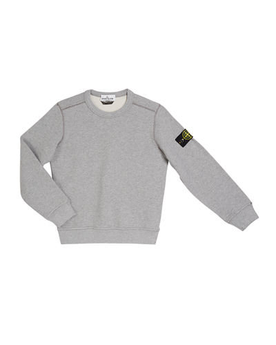 Cotton Sweatshirt w/ Logo Tab on Sleeve, Size 8-10