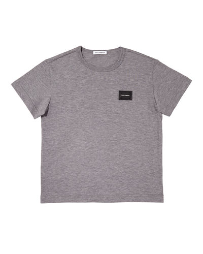 Short-Sleeve Logo Patch Tee, Size 8-12