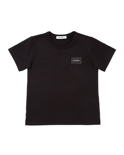 Short-Sleeve Logo Patch Tee, Size 12-30 Months