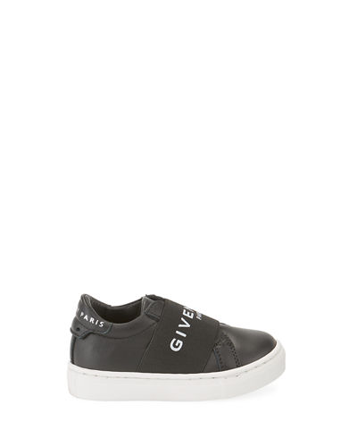 Logo Band Leather Sneakers, Baby
