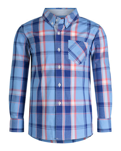 Collared Plaid Shirt, Size 8-14