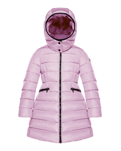 Charpal Detachable-Hood Puffer Coat, Pink, Size 8-14
