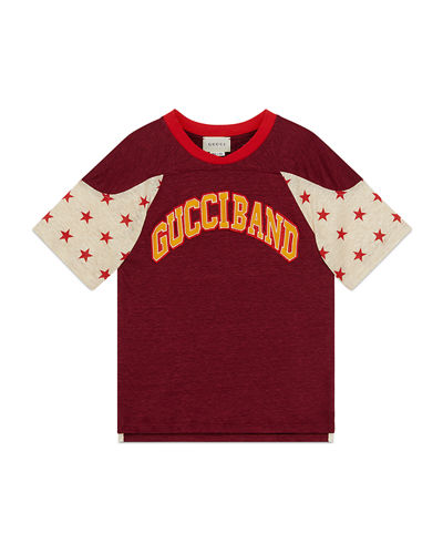 Girl's Gucci Band Short-Sleeve T-Shirt, Size 4-12