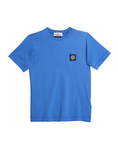 Boy's Logo Patch Short-Sleeve Tee, Size 10-12