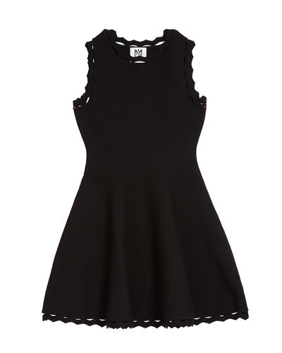 Zigzag-Trim Flare Dress, Size 7-16