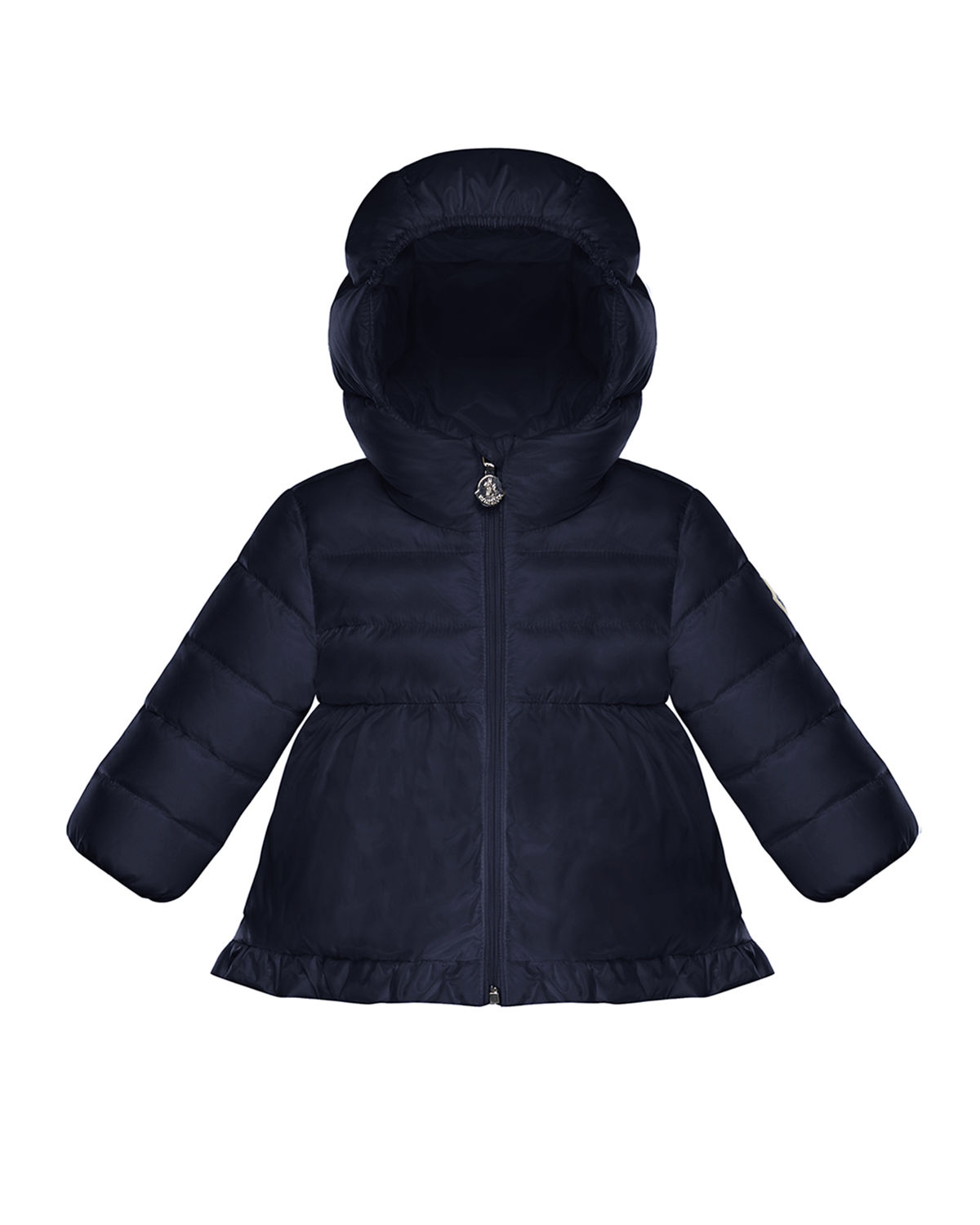Moncler ODILE QUILTED RUFFLE-TRIM HOODED PUFFER JACKET