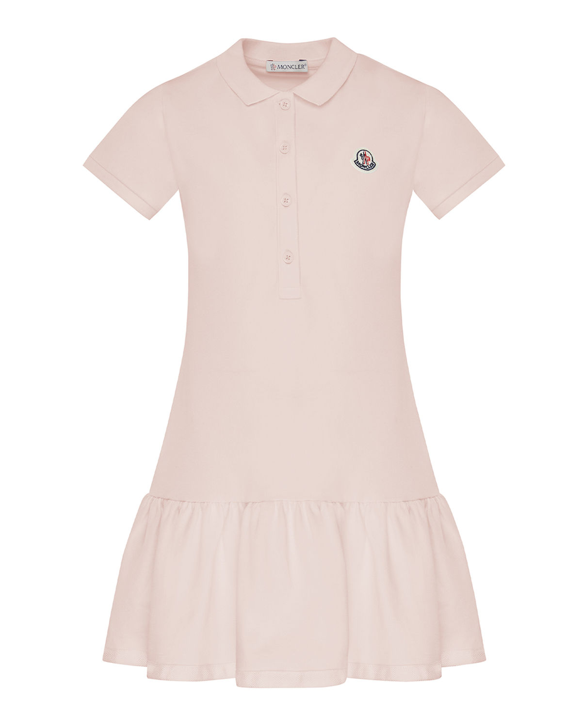 Moncler GIRL'S PIQUE DROP-WAIST POLO DRESS