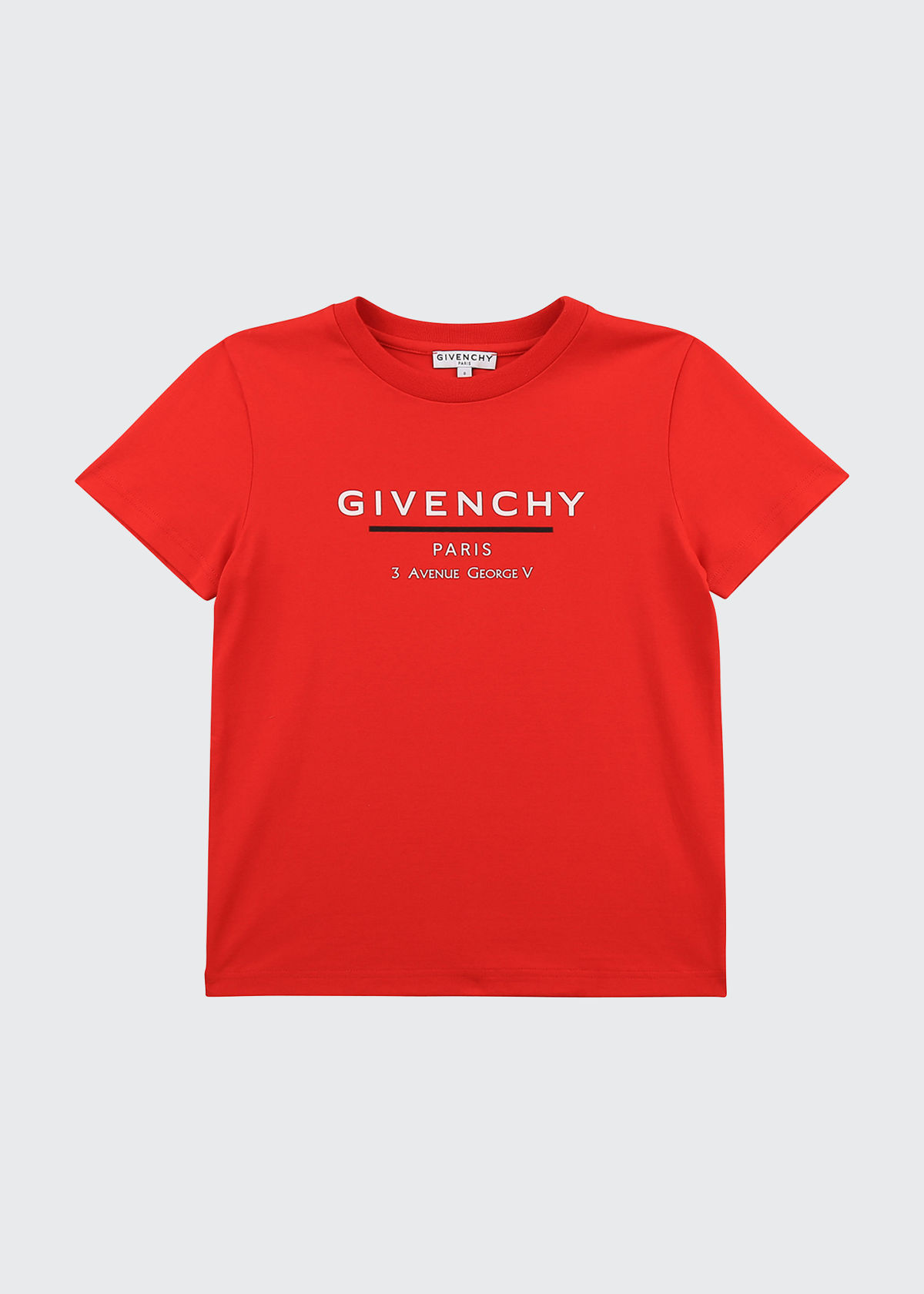 Givenchy BOY'S UNDERLINE LOGO-PRINT SHORT-SLEEVE T-SHIRT