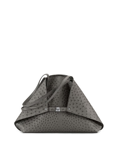 Ai Ostrich Shoulder Bag