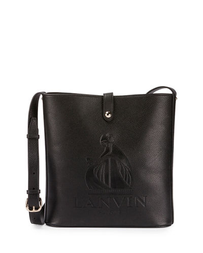 ac34e960a42 Lanvin Logo-Embossed Leather Shoulder Bag