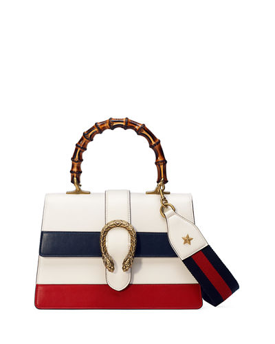 Dionysus Small Web-Stripe Top-Handle Satchel Bag