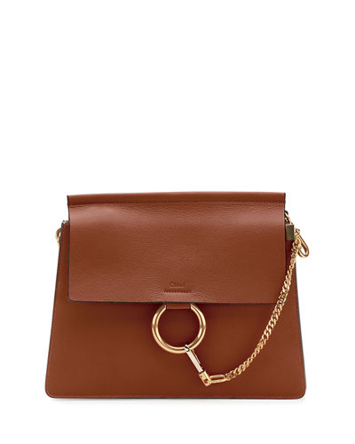 Faye Medium Leather Shoulder Bag