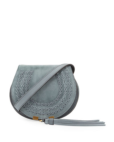 Chloe Marcie Mini Suede Crossbody Bag