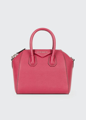 'MINI ANTIGONA' SUGAR LEATHER SATCHEL - PINK