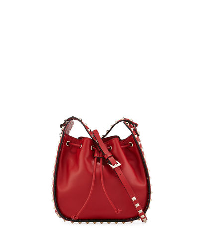 Rockstud Small Drawstring Crossbody Bag