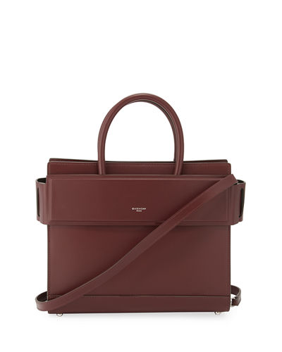 Horizon Small Smooth Leather Satchel Bag