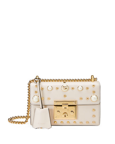 2d348fe7cb Gucci Padlock Small Studded Leather Shoulder Bag