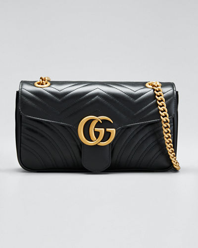 f5ab0c5333870 Gucci GG Marmont Small Matelasse Shoulder Bag