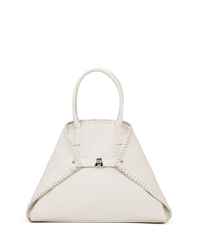 Akris Ai Small Top-Handle Braided Shoulder Bag