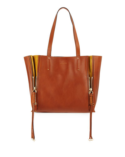 Milo Medium Leather & Suede Tote Bag