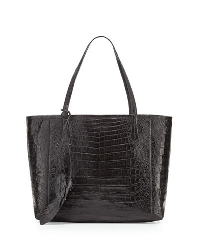 Erica New Crocodile Leaf Tote Bag