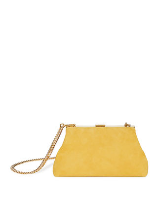 MINI VOLUME SUEDE CLUTCH BAG