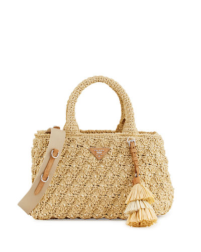 Newest Online Free Shipping With Credit Card Prada raffia tote Genuine Cheap Price tvTzi