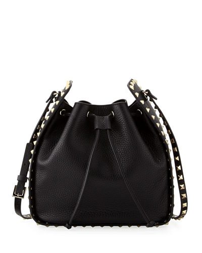 black Rockstud large leather bucket bag Valentino LPrkh