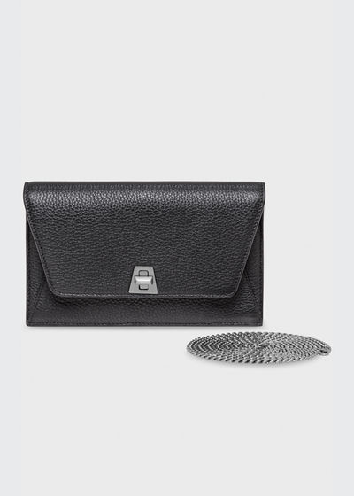Anouk Cervo Leather Clutch Bag w/Chain