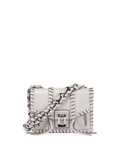 Hava Whipstitch Leather Chain Shoulder Bag