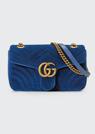 b7cf68795d8 Gucci GG Marmont Small Quilted Velvet Crossbody Bag