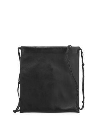 Medicine Large Pouch Bag In Puffy Napa, Black