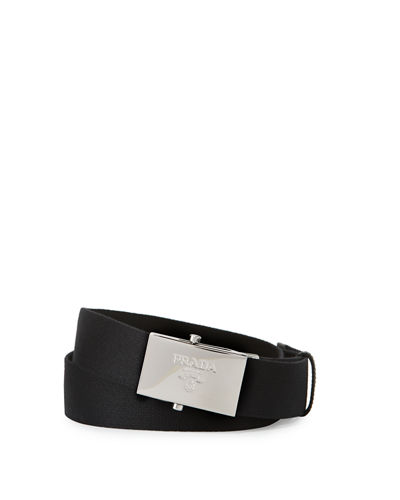 Nylon Logo Buckle Belt
